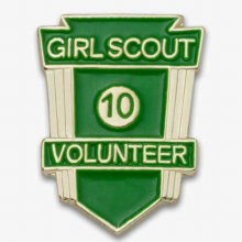 Volunteer Years of Service Award Pin - Green