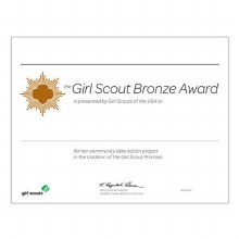 Bronze Award Certificate