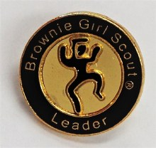 Brownie Girl Scout Leader Pin