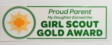 Gold Award Bumper Sticker