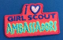 I Love Girl Scout Ambassadors Fun Patch