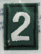 Junior, Cadette, Senior & Ambassador Troop Numeral Iron On Patch