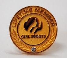 Girl Scout Lifetime Membership Pin
