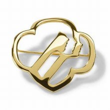 Girl Scouts Profiles Brooch - Goldtone