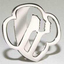 Girl Scout Logo Scarf Slide - Silvertone