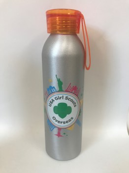USAGSO Water Bottle with orange lid