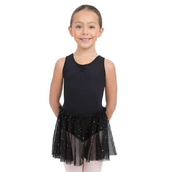Capezio Tank Dress w/ Glitter Skirt 11532C 2-4 BLK
