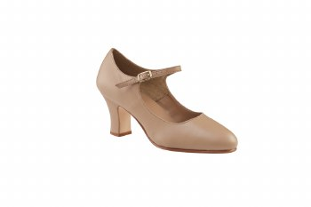 "Capezio 2.5"" Leather Manhattan Character 653 CAR 5.5"