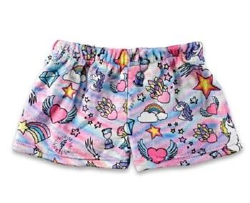 Top Trenz Fuzzy Shorts UNI SHORT 10-12 PINK