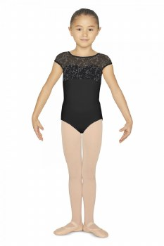 Bloch Bow Back Cap Sleeve Leo CL4872 6-7 BLK