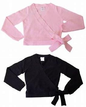Basic Moves Wrap Sweater 4125L S/M BLK