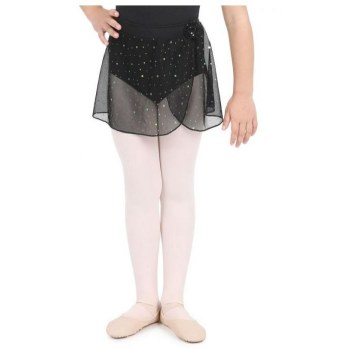 Capezio Pull On Skirt w/Polka Dots 11530C 2-4 BLK