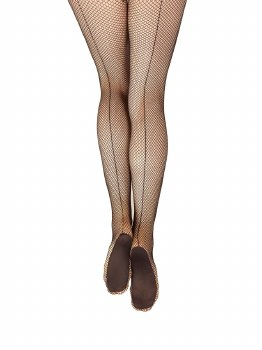 Capezio Professional Fishnet Tight w/ Seams 3400 S/M BLK