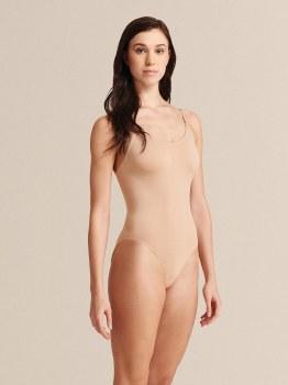 Capezio Seamless Cami Leo w/ Nude & Clear Straps 3680 SM NUD