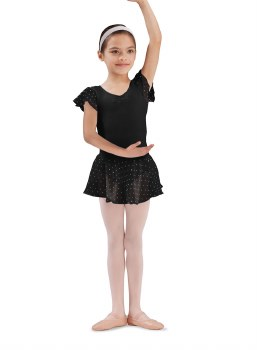 Bloch Sequin Skirt CR5161 BLK 6-7