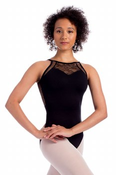 So Danca Cami Floral Lace with Mesh D1719 LG BLK