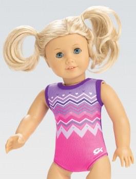 Gk Elite Chevron Hearts Doll Leotard E4011 O/S MULTI