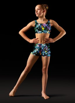 Bloch Printed Shorts LEOS GB154C 2-4 BOT