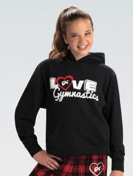 Gk Elite Love Gymnastics Hooded Sweatshirt L1205 12-14 BLK
