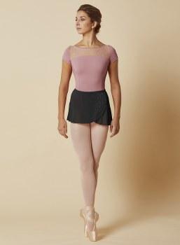 Mirella Mesh Wrap Skirt MS156 O/S BLK