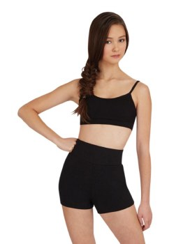 Capezio High Waisted Shorts CTB131 XSM BLK