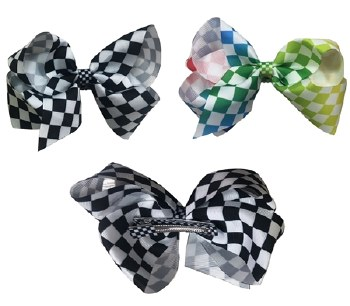 Top Trenz  Checker Hair Bow