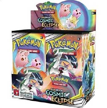 Pokemon Sun & Moon Cosmic Eclipse Booster Display English