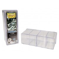 Dragon Shield Clear Four Compartment Box (320+ Cards)