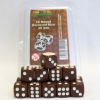 Blackfire 16mm D6 Dice Set Brown (15 Dice)
