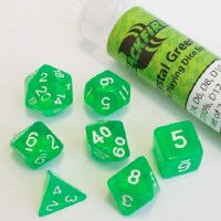 Blackfire RPG Dice Set of 7 Crystal Green