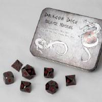 Blackfire Dice Metal Dice Set Black (7 Dice)