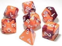 Chessex Polyhedral 7-Die Set Orange-Purple/White