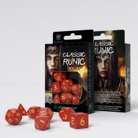 Classic Runic Red & Yellow RPG Dice Set (7)