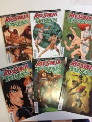 Red Sonja Tarzan 1-6 Complete Series