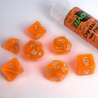 Blackfire RPG Dice Set of 7 Crystal Orange