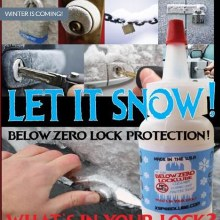 BELOW ZERO LOCK LUBE
