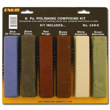 6PC POLISHING COMPOUND KIT 4OZ