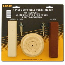 4PC BUFFING KIT W/ WHEELS