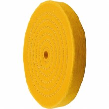 "6"" CLOTH BUFFING WHEEL YELLOW"