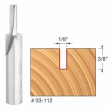 "1/8"" Single Flute Straight Bit 1/4"" Shank x 3/8"" Carbide Height"