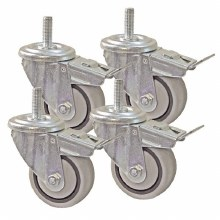 "3"" DUAL LOCKING CASTERS 4PC"