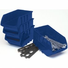 4PC LARGE STACKABLE TRAYS BLUE