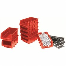 8PC SMALL STACKABLE TRAYS RED