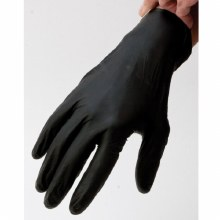 20PK BLACK NITRILE GLOVES - L