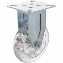 """4"""" CLEAR PLASTIC FIXED CASTER"""