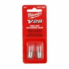 28v BULBS FOR FLASHLIGHT, PK 2