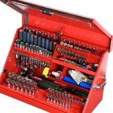 D- MED TOOL BOX RED STEEL
