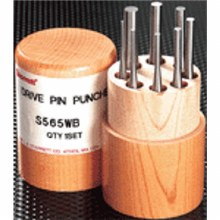 8pc Pin Punch,A-H -WOOD-SHORT