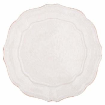Impressions White Dinner Plate