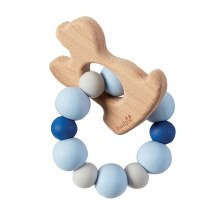 Blue Puppy Wood Teether